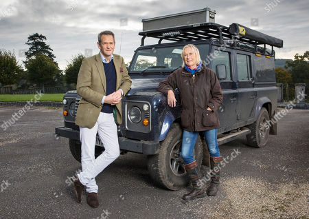 Stock Image of Alexander Armstrong with The Queen's third cousin, Princess Olga Romanoff.