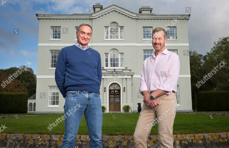 Lord Ivar Mountbatten (right) and his husband James Coyle (left) at their home Bridewell Park in Devon.