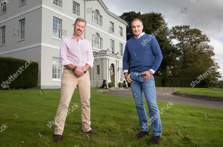 Lord Ivar Mountbatten and his husband James Coyle at their home Bridewell Park in Devon.