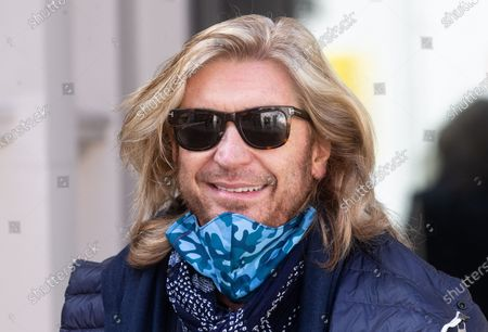 Nicky Clarke, Hair stylist and Media personality, out and about London.