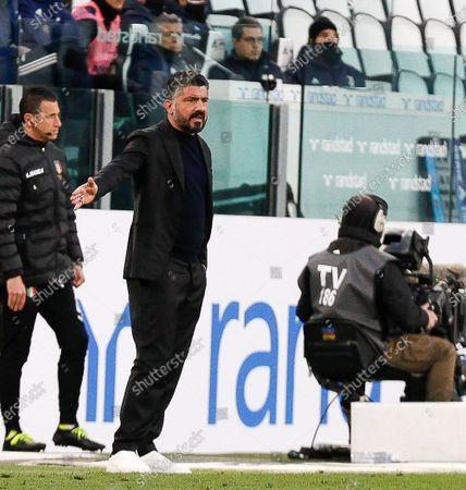 Head coach of Napoli Gennaro Gattuso during the match