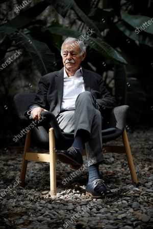 Stock Picture of Spanish writter Eduardo Mendoza poses during the presentation of his last novel 'Transfer to Moscow' in Barcelona, Catalonia, Spain, 09 April 2021. It is the third part of his trilogy with the character of Rufo Batalla.