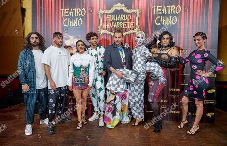 Stock Photo of Guillermo Furiase, Ricky Merino, Lorena Castell, Cayetano Fernández, Eduardo Navarrete, Samantha Hudson, Blanca Romero attend the fashion show 'Teatro Chino'