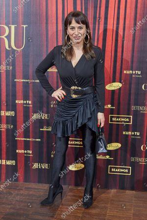 Maria Escote attends the fashion show 'Teatro Chino'