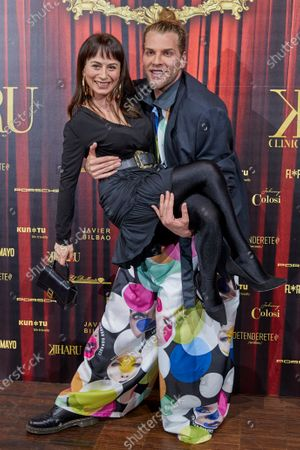 Maria Escote, Eduardo Navarrete attend the fashion show 'Teatro Chino'