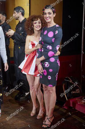 Marta Belenguer, Blanca Romero attend the fashion show 'Teatro Chino'