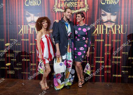 Marta Belenguer, Eduardo Navarrete, Blanca Romero attend the fashion show 'Teatro Chino'