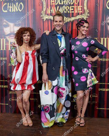 Stock Picture of Marta Belenguer, Eduardo Navarrete, Blanca Romero attend the fashion show 'Teatro Chino'