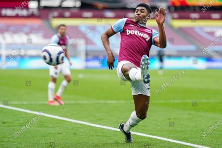 Stock Picture of Ben Johnson of West Ham United attempts to control the ball