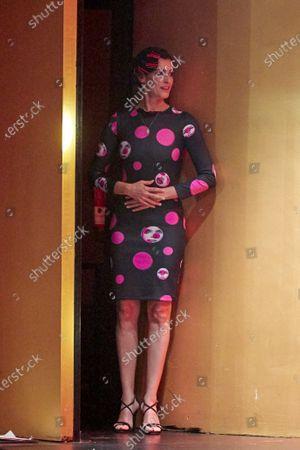 Blanca Romero on the catwalk during the fashion show 'Teatro Chino'