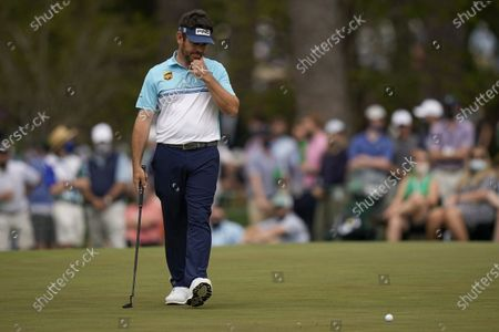 Louis Oosthuizen, of South Africa, misses a birdie putt on the 15th hole during the second round of the Masters golf tournament, in Augusta, Ga