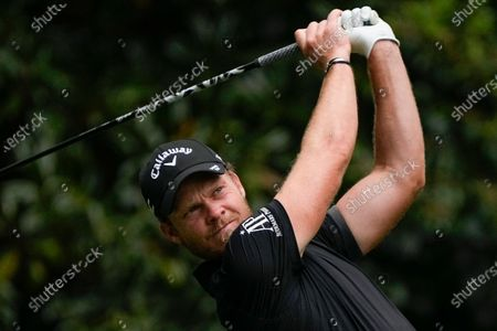 Danny Willet, of England, tees off on the 11th hole during the second round of the Masters golf tournament, in Augusta, Ga