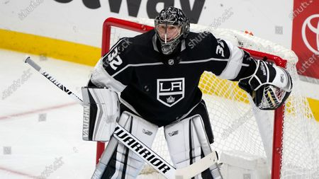 Los Angeles Kings goaltender Jonathan Quick during an NHL hockey game against the Arizona Coyotes, in Los Angeles