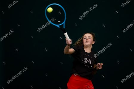 Stock Image of ITF World Tennis Number is a single global tennis rating for all players, regardless of age, ability or gender - from the world's elite to a player taking part in their first competition or playing socially in their club. The scale will see players given a rating from 40 to 1, with recreational players starting close to 40 and the professionals being close to 1.The ITF World Tennis Number will allow players to be grouped with other well-matched opponents, providing more appropriate and enjoyable competition for the players taking part whilst also driving player development and participation. Pictured is Sarah O'Connor