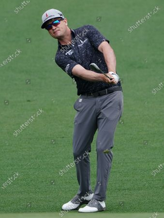 Zach Johnson watches his fairway shot on the second hole during the second round of the 2021 Masters Tournament at Augusta National Golf Club in Augusta, Georgia on Friday, April 9, 2021.   Photo by Kevin Dietsch/UPI