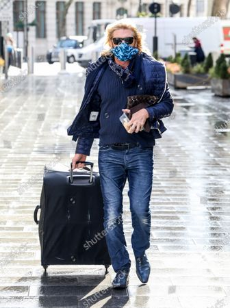 Stock Image of Celebrity Hairdresser Nicky Clarke is spotted out and about in London.