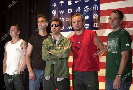 """Pearl Jam members, from left, Mike McCready, Matt Cameron, Eddie Vedder, Jeff Ament and Stone Gossard appear at a news conference in Mexico City, on . Pearl Jam should be on the road celebrating 30 years of """"Ten"""" with a tour. Pearl Jam's postponed European tour was rescheduled for June and July 2022. The delay not only put any plans to celebrate """"Ten"""" on hold, Pearl Jam has still yet to tour in support of last year's release, """"Gigaton"""