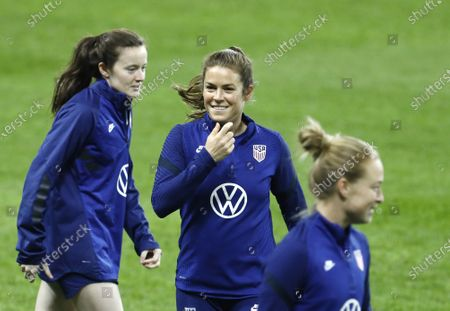 Stock Picture of Defender no 5 Kelley O'Hara, United States women's national soccer team training on Friends Arena, before the friendly game, Sweden - USA, Stockholm