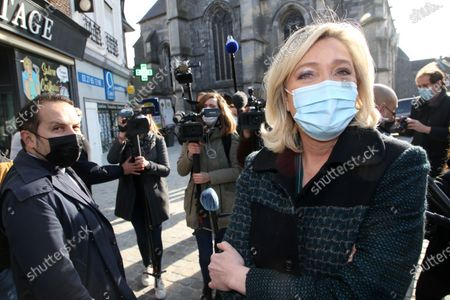 Marine Le Pen and Sebastien Chenu.