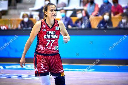 Editorial picture of Spar Girona v Ciudad de La Laguna, Womens League Basketball match, Pavelló Municipal Girona, Spain - 03 Apr 2021