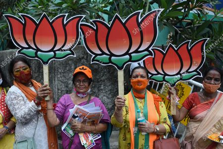 Editorial image of West Bengal Assembly Elections Union Home Minister Amit Shah Campaigns For BJP Candidate At Bhowanipore, Kolkata, India - 09 Apr 2021