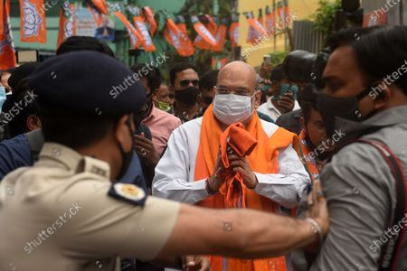 Editorial photo of West Bengal Assembly Elections Union Home Minister Amit Shah Campaigns For BJP Candidate At Bhowanipore, Kolkata, India - 09 Apr 2021