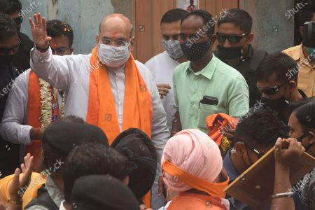 Editorial picture of West Bengal Assembly Elections Union Home Minister Amit Shah Campaigns For BJP Candidate At Bhowanipore, Kolkata, India - 09 Apr 2021