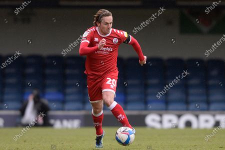 Sam Matthews of Crawley Town in action during Sky Bet League Two match between Southend United and Crawley Town  at Roots Hall in Southend - 10th April 2021
