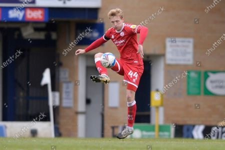 Josh Wright of Crawley Town in action during Sky Bet League Two match between Southend United and Crawley Town  at Roots Hall in Southend - 10th April 2021