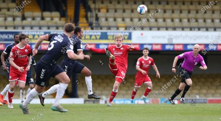 Crawley Town's Josh Wright during the EFL League Two match between Southend United and Crawley Town at the Roots Hall in Southend.