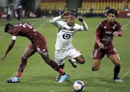 Editorial image of FC Metz v Lille OSC, Ligue 1, Football, Stade Saint-Symphorien, Longeville-lès-Metz, France - 09 Apr 2021