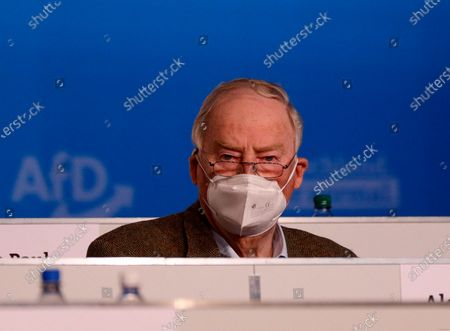 Stock Picture of Alternative for Germany (AfD) faction co-leader Alexander Gauland during Germany's right-wing populist Alternative for Germany (AfD) party convention in Dresden, Germany, 10 April 2021. AfD party convention takes place from 10 to 11 April 2021.