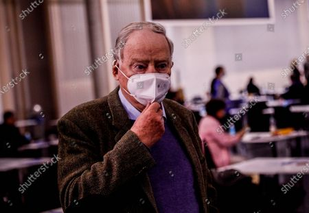 Stock Photo of Alternative for Germany (AfD) faction co-leader Alexander Gauland, during Germany's right-wing populist Alternative for Germany (AfD) party convention in Dresden, Germany, 10 April 2021. AfD party convention takes place from 10 to 11 April 2021.