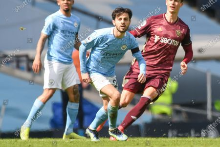 Manchester City midfielder Bernardo Silva (20) in action at the Premier League match between Manchester City and Leeds United at the Etihad Stadium, Manchester