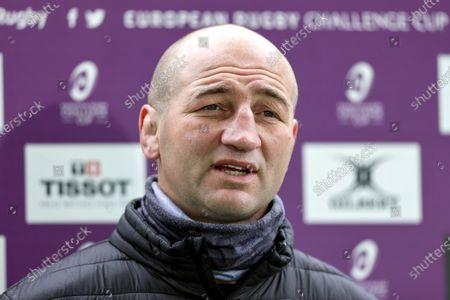 Leicester Tigers vs Newcastle Falcons. Leicester Tigers' head coach Steve Borthwick