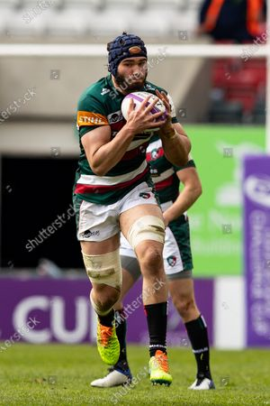 Editorial image of Leicester Tigers v Newcastle Falcons, UK - 10 Apr 2021