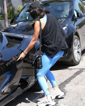 Vanessa Hudgens leaving the gym in West Hollywood