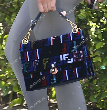Sofia Richie, bag detail, goes to the gym in West Hollywood
