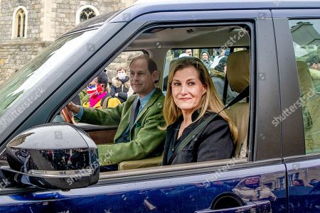 Prince Edward and Sophie Countess of Wessex visit Windsor Castle, Berkshire
