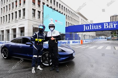"""Patrick Dempsey and Safety Car driver Bruno Correia with a Porsche Taycan 4S  TAG Heuer and Porsche ambassador Patrick Dempsey attends ABB FIA Formula E World Championship for Rome E-Prix  Hot off the set of Devils Season 2, Patrick Dempsey returned to the Formula E paddock on Saturday 10 April, hosted by partners TAG Heuer and Porsche Accomplished racing driver and a-list actor Dempsey took to the track at the wheel of fully-electric sports car the Porsche Taycan Dempsey joined TAG Heuer Porsche Formula E Team in the garage to watch Free Practice and meet their drivers André Lotterer and Pascal Wehrlein  Rome, Italy (April 10, 2021)  Rome, Italy (April 10, 2021) - Devils and Grey's Anatomy actor Patrick Dempsey today joined TAG Heuer and TAG Heuer Porsche Formula E Team at the Rome E-Prix for Round 3 of the 2020/21 ABB FIA Formula E World Championship.  As the ABB FIA Formula E World Championship returns to Rome for the third time, Hollywood actor and accomplished motor racer Patrick Dempsey, who previously attended the New York E-Prix in 2018, joined partners TAG Heuer and Porsche in the paddock.   After test driving the fully-electric Porsche Taycan sports car on the iconic city street circuit, he watched free practice and greeted the Porsche drivers in their garage before enjoying the hospitality of the exclusive BOSS   EMOTION CLUB.  Dempsey was joined by Italian actor and Devils co-star Alessandro Borghi as well as TV presenter, actress and model Michelle Hunziker, both also hosted by TAG Heuer, the Official Timekeeper of the ABB FIA Formula E World Championship. From this season, the driver who claims the TAG Heuer Fastest Lap in each race also receives one additional point towards his championship title campaign.   Patrick Dempsey TAG Heuer Ambassador said: """"It's fantastic to be back at a Formula E race today. The event feels incredibly safe thanks to the covid protocols and the atmosphere here is electric. Urban, highly competitive, cit"""