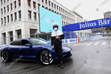 """Patrick Dempsey with a Porsche Taycan 4S  TAG Heuer and Porsche ambassador Patrick Dempsey attends ABB FIA Formula E World Championship for Rome E-Prix  Hot off the set of Devils Season 2, Patrick Dempsey returned to the Formula E paddock on Saturday 10 April, hosted by partners TAG Heuer and Porsche Accomplished racing driver and a-list actor Dempsey took to the track at the wheel of fully-electric sports car the Porsche Taycan Dempsey joined TAG Heuer Porsche Formula E Team in the garage to watch Free Practice and meet their drivers André Lotterer and Pascal Wehrlein  Rome, Italy (April 10, 2021)  Rome, Italy (April 10, 2021) - Devils and Grey's Anatomy actor Patrick Dempsey today joined TAG Heuer and TAG Heuer Porsche Formula E Team at the Rome E-Prix for Round 3 of the 2020/21 ABB FIA Formula E World Championship.  As the ABB FIA Formula E World Championship returns to Rome for the third time, Hollywood actor and accomplished motor racer Patrick Dempsey, who previously attended the New York E-Prix in 2018, joined partners TAG Heuer and Porsche in the paddock.   After test driving the fully-electric Porsche Taycan sports car on the iconic city street circuit, he watched free practice and greeted the Porsche drivers in their garage before enjoying the hospitality of the exclusive BOSS   EMOTION CLUB.  Dempsey was joined by Italian actor and Devils co-star Alessandro Borghi as well as TV presenter, actress and model Michelle Hunziker, both also hosted by TAG Heuer, the Official Timekeeper of the ABB FIA Formula E World Championship. From this season, the driver who claims the TAG Heuer Fastest Lap in each race also receives one additional point towards his championship title campaign.   Patrick Dempsey TAG Heuer Ambassador said: """"It's fantastic to be back at a Formula E race today. The event feels incredibly safe thanks to the covid protocols and the atmosphere here is electric. Urban, highly competitive, city centre racing is the essence of Fo"""