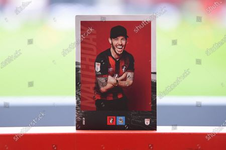 Adam Smith of AFC Bournemouth on the front cover of the match day programme during AFC Bournemouth vs Coventry City, Sky Bet EFL Championship Football at the Vitality Stadium on 10th April 2021