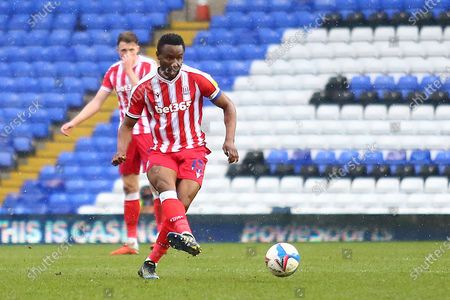 Stoke City midfielder Mikel John Obi (13) during the EFL Sky Bet Championship match between Birmingham City and Stoke City at the Trillion Trophy Stadium, Birmingham