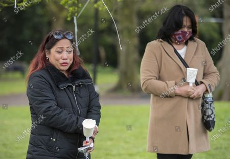 Editorial photo of Vigil takes for Bennylyn Burke and daughter Jellica, Bristol, UK - 10 Apr 2021