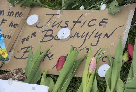 Editorial image of Vigil takes for Bennylyn Burke and daughter Jellica, Bristol, UK - 10 Apr 2021