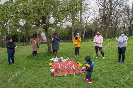 Editorial picture of Vigil takes for Bennylyn Burke and daughter Jellica, Bristol, UK - 10 Apr 2021