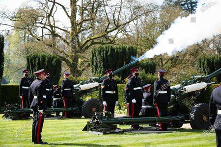 Forty one gun salute in honor of HRH Prince Philip, UK