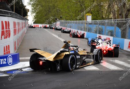 Stock Image of Antonio Felix da Costa (PRT), DS Techeetah, DS E-Tense FE21 during the 2021 Formula E Round 3 - Rome E-Prix in this Handout Photo from the FIA Formula E World Championship for editorial use only (no commercial use)