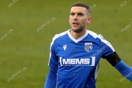 Stuart O'Keefe of Gillingham during Gillingham vs Shrewsbury Town, Sky Bet EFL League 1 Football at the MEMS Priestfield Stadium on 10th April 2021