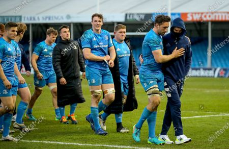 Exeter Chiefs vs Leinster. Leinster's Jack Conan with Johnny Sexton after the game